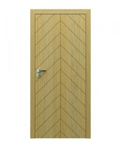 двери шпонированные с фрезеровкой NATURA VECTOR, мод.J, дуб