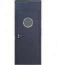 Дверь CPL с иллюминатором и верхней панелью Level