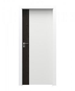 Межкомнатные двухцветные двери Porta Duo модель 4.0, шпон орех темный