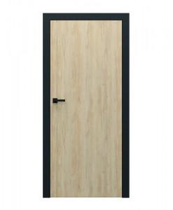 Двери с чёрной коробкой Porta Loft 1.1 цвет бук Скандинавский