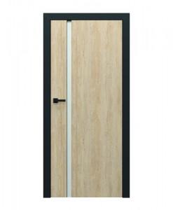 Двери Porta Loft 4.a цвет бук Скандинавский, коробка черная матовая