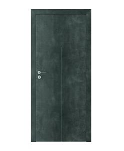 Двери Loft в цвете бетон модель Line мод. H.1, ламинат CPL с алюминиевыми вставками