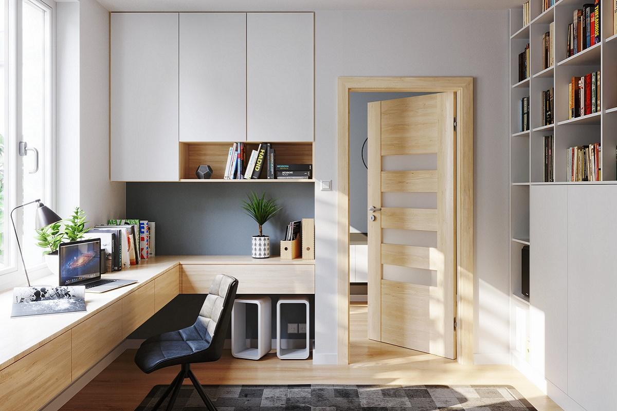 Цвет двери Бук Скандинавский модель KONCEPT H4
