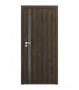 Двери resist модель B.1 с алюминиевыми вставками Gladstone коричневый дуб