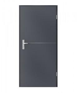 Двери звукоизоляционные противопожарные Silence, Ламинат CPL цвет Антрацит HPL/CPL