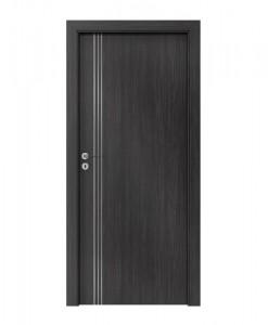 Дверь для гостиниц звукоизоляционная противопожарная Silence, модель 3, ламинат CPL цвет темная структура