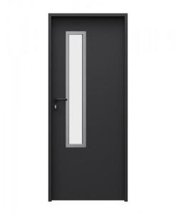двери металлические Solid модель 3, цвет чёрный RAL 9005