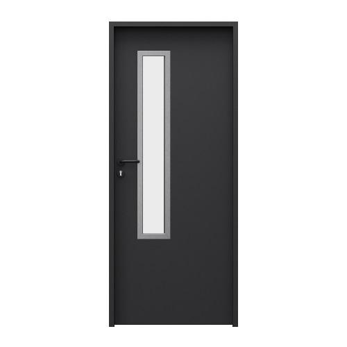двери металлические Solid модель 3, цвет чёрный