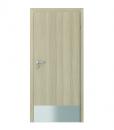 Двери с нижней нержавеющей панелью, оклеенные Porta CPL модель 1.1