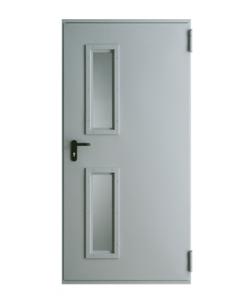 Противопожарные двери металлические EI30, EI60 модель 1, RAL 7047