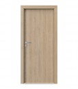 Двери resist модель H.1_2 с алюминиевой вставкой Gladstone песочный дуб