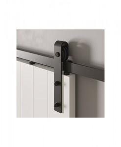 Раздвижная система черного цвета в стиле loft, система Black модель Rea для межкомнатных дверей Porta