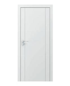 межкомнатная белая дверь с фрезеровкой Vector модель А, RAL 9003